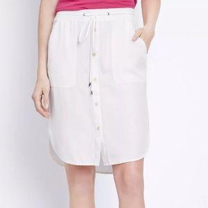 VINCE White Cotton Knee Length Skirt Large